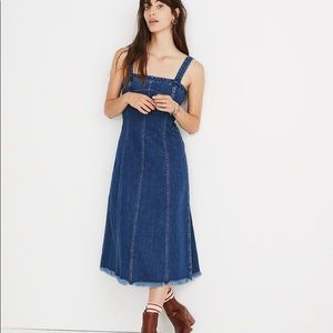 Madewell Ram-Hemmed Denim seamed dress